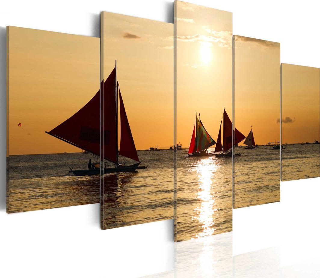 Artgeist Obraz - Żaglówki o zachodzie słońca ARTGEIST 1