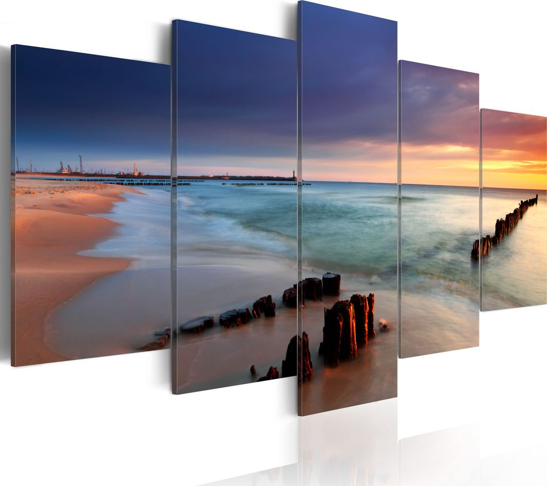 Artgeist Obraz - Wschód słońca nad brzegiem morza ARTGEIST 1