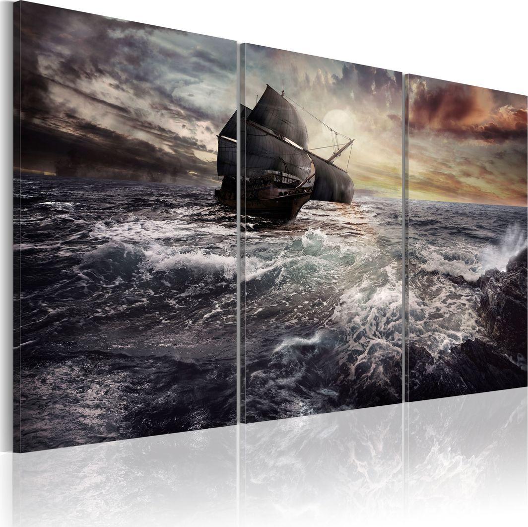 Artgeist Obraz - Samotny statek na pełnym morzu ARTGEIST 1
