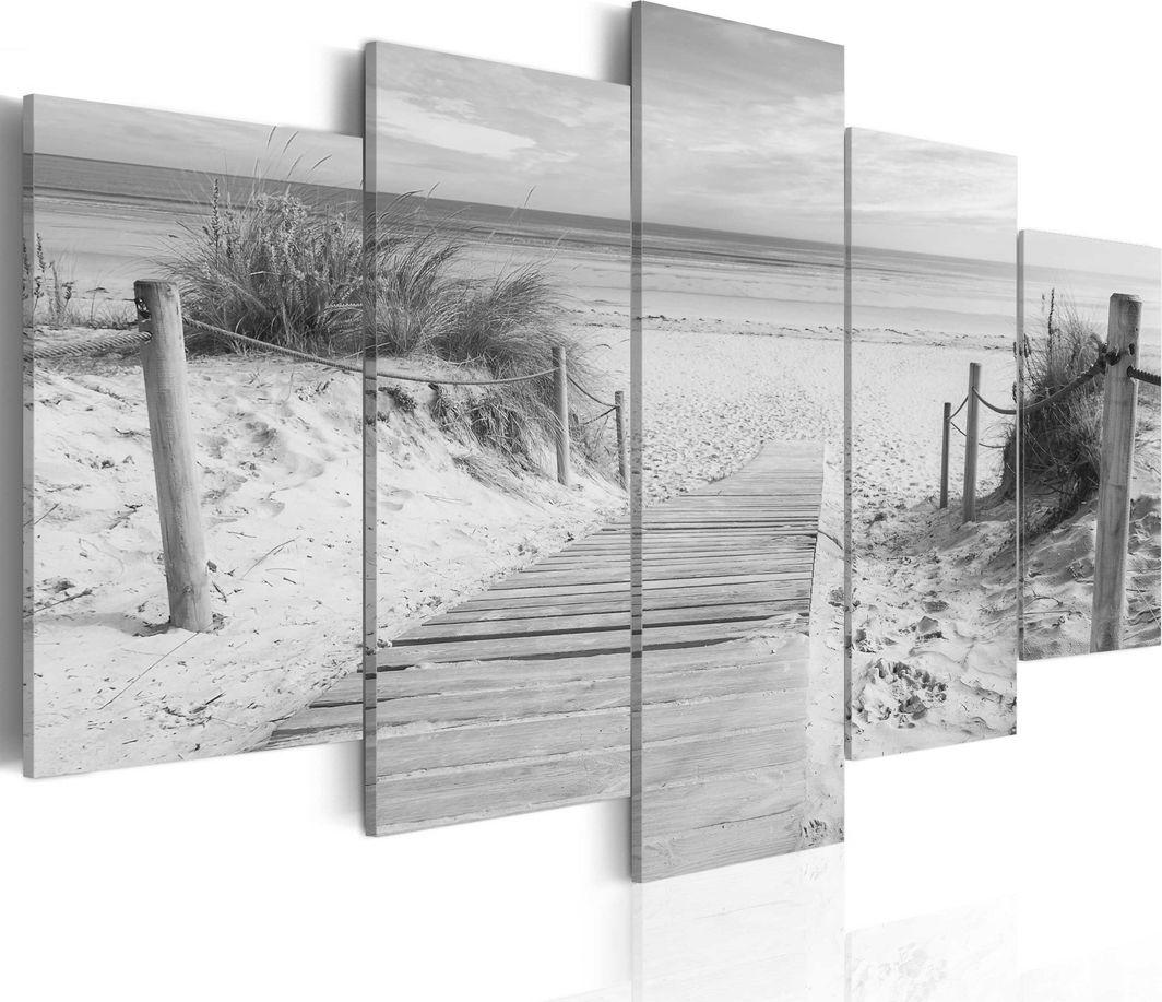 Artgeist Obraz - Poranek na plaży - czarno-biały ARTGEIST 1
