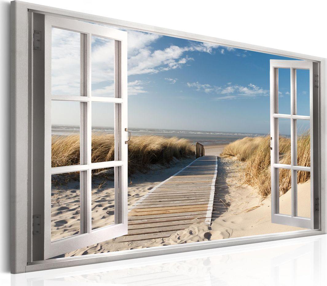 Artgeist Obraz - Okno: widok na plażę ARTGEIST 1