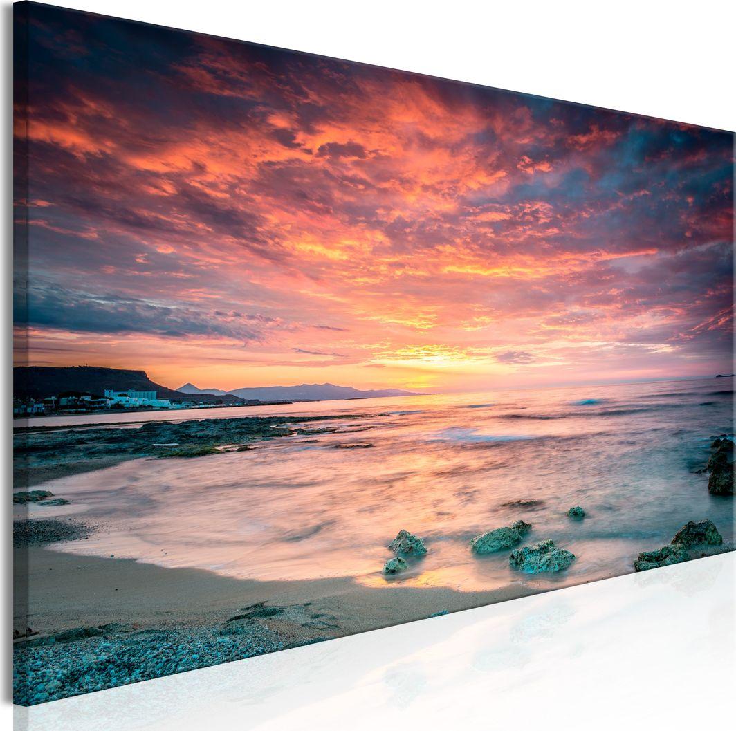 Artgeist Obraz - Plaża na Krecie (1-częściowy) wąski czerwony ARTGEIST 1