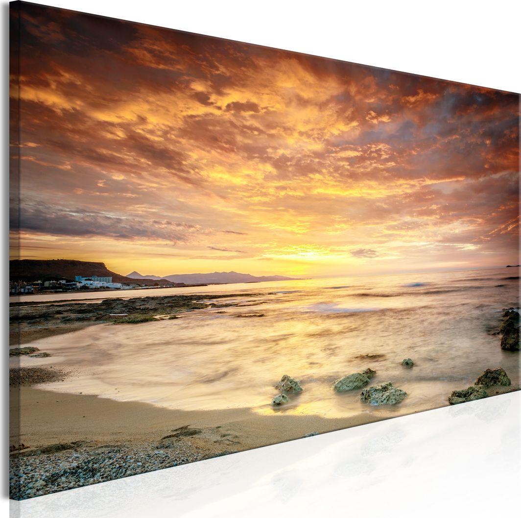 Artgeist Obraz - Plaża na Krecie (1-częściowy) wąski pomarańczowy ARTGEIST 1