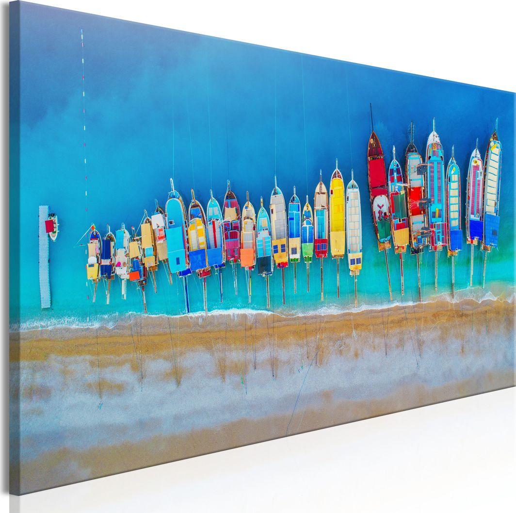 Artgeist Obraz - Kolorowe łódki (1-częściowy) wąski ARTGEIST 1
