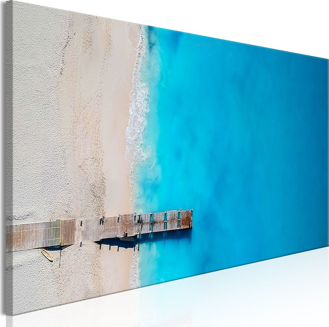 Artgeist Obraz - Morze i pomost (1-częściowy) wąski niebieski ARTGEIST 1