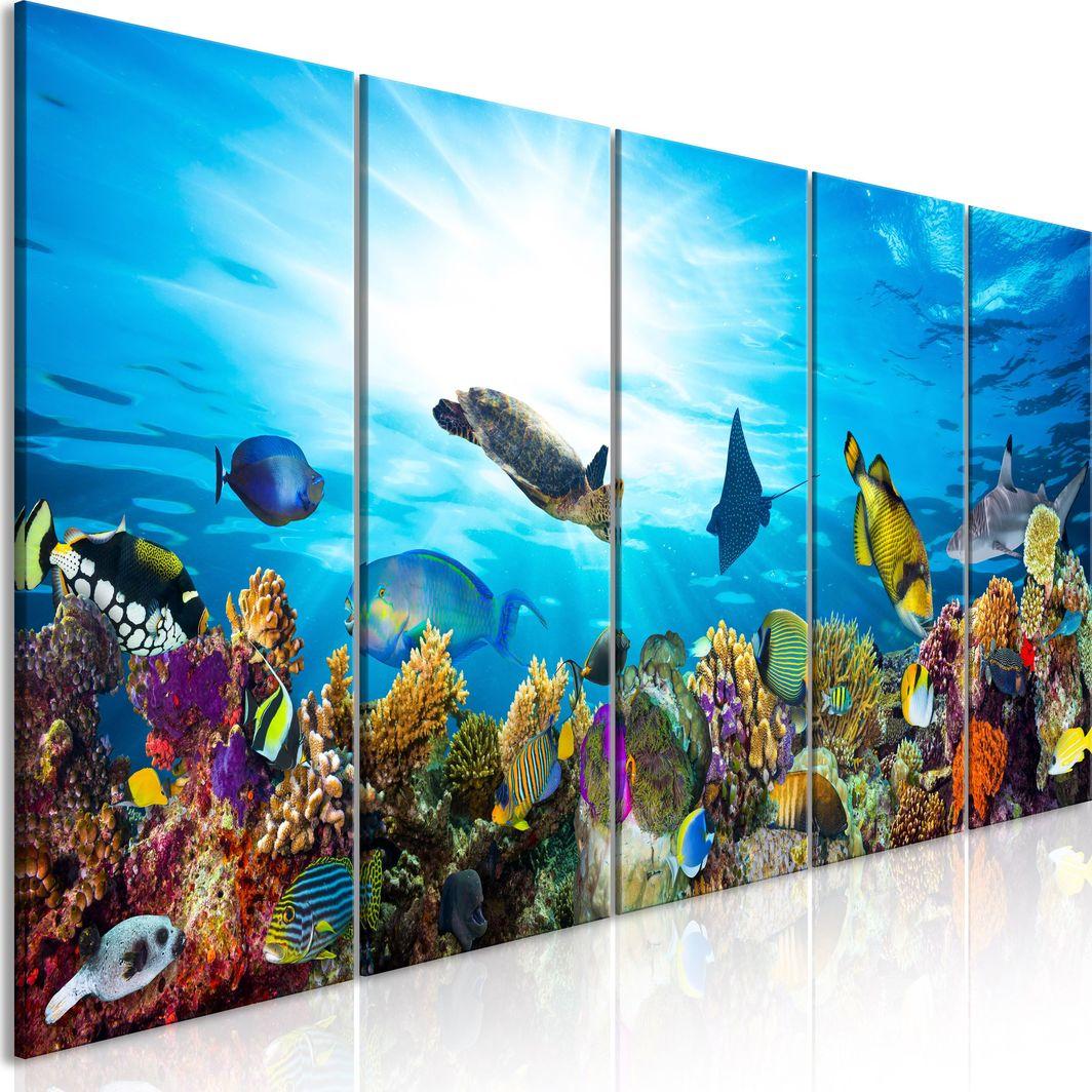 Artgeist Obraz - Rafa koralowa (5-częściowy) wąski ARTGEIST 1