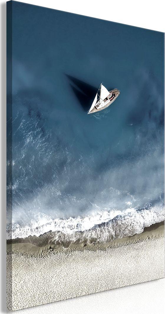 Artgeist Obraz - Jacht na morzu (1-częściowy) szeroki ARTGEIST 1