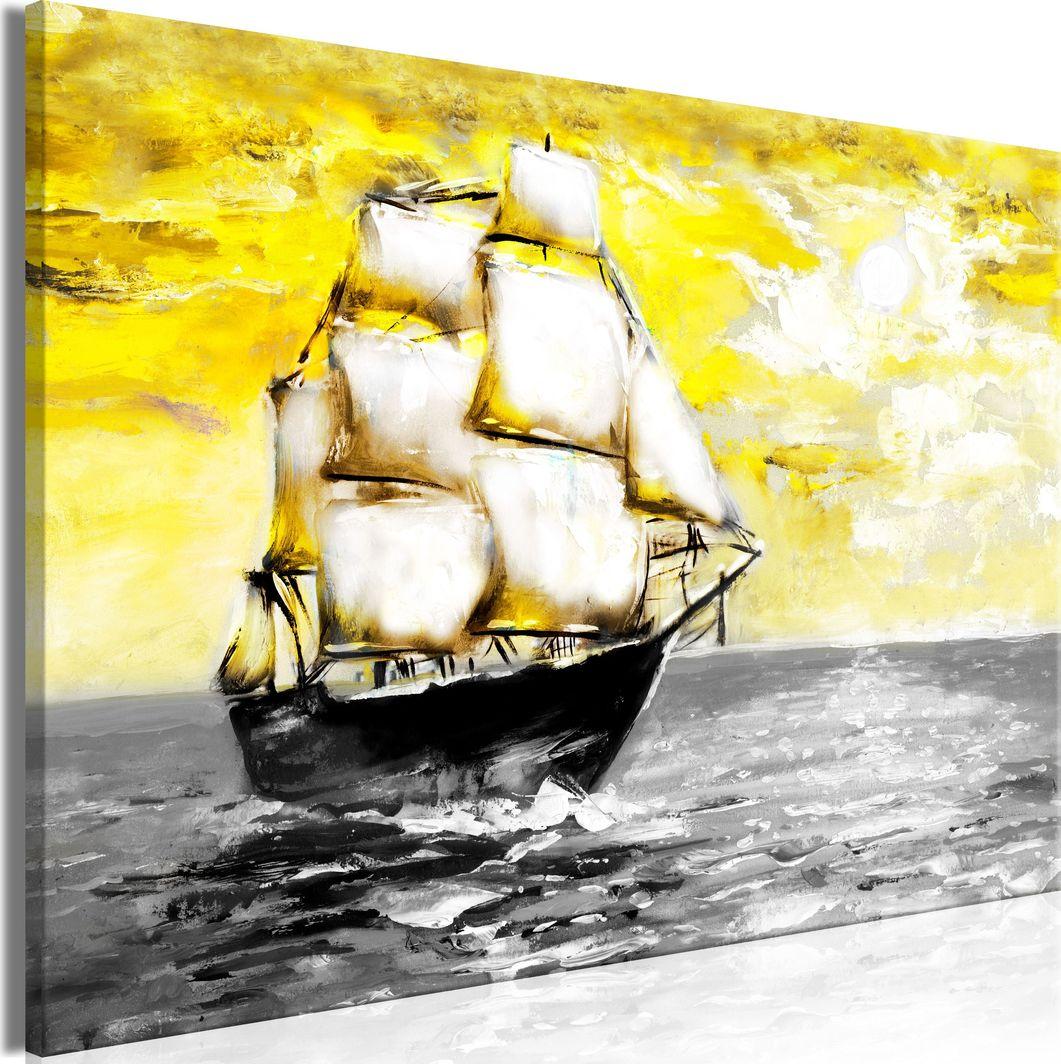 Artgeist Obraz - Wiosenny rejs (1-częściowy) szeroki żółty ARTGEIST 1