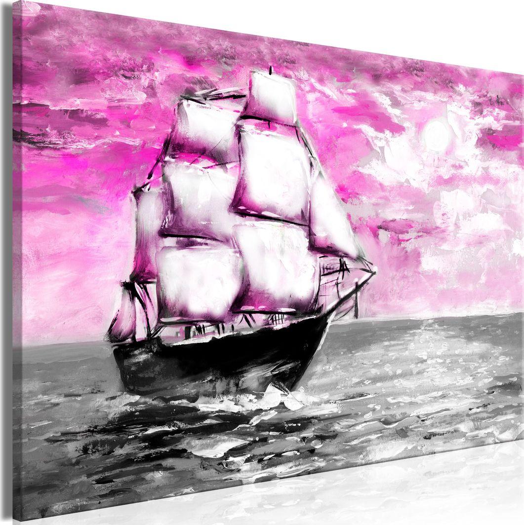 Artgeist Obraz - Wiosenny rejs (1-częściowy) szeroki różowy ARTGEIST 1
