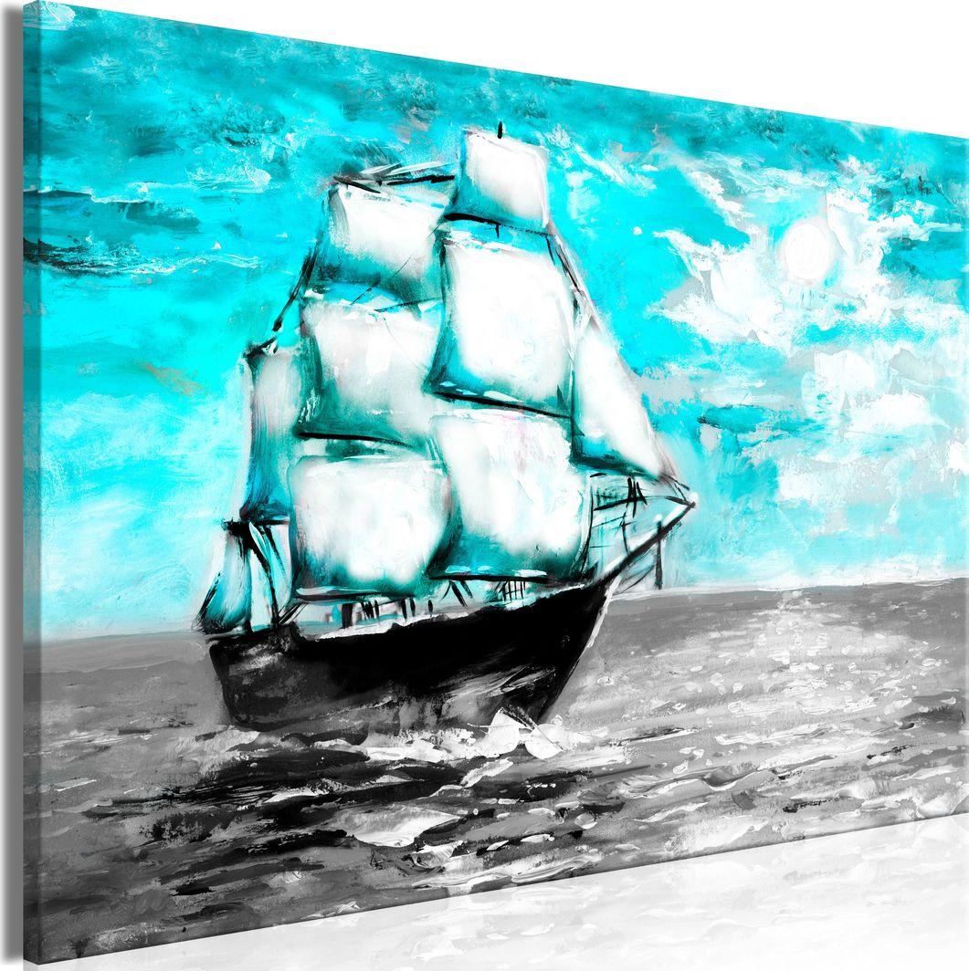 Artgeist Obraz - Wiosenny rejs (1-częściowy) szeroki niebieski ARTGEIST 1