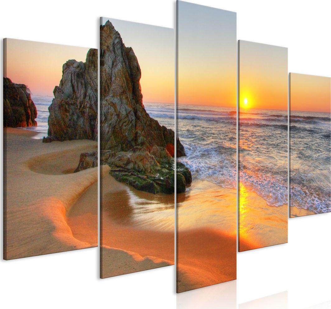 Artgeist Obraz - Spotkanie o zachodzie słońca (5-częściowy) szeroki ARTGEIST 1
