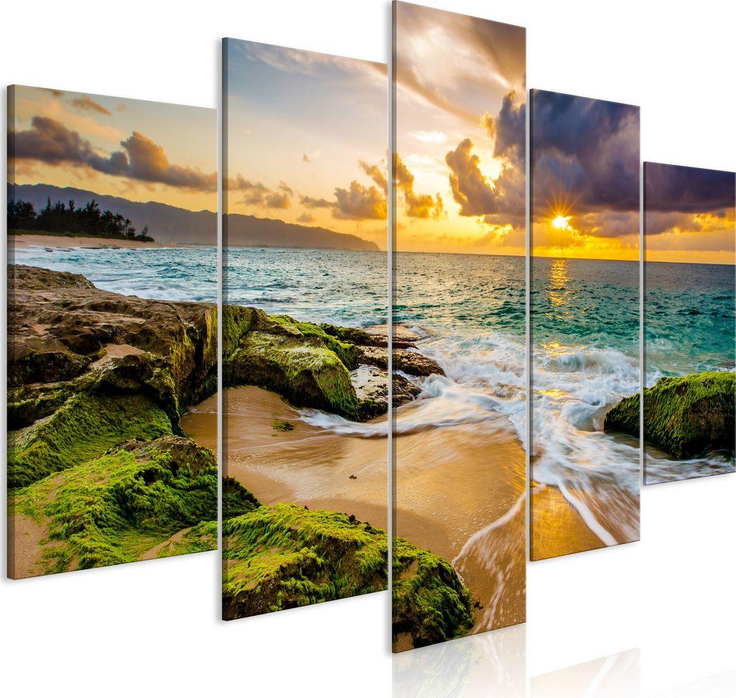 Artgeist Obraz - Turkusowe morze (5-częściowy) szeroki ARTGEIST 1
