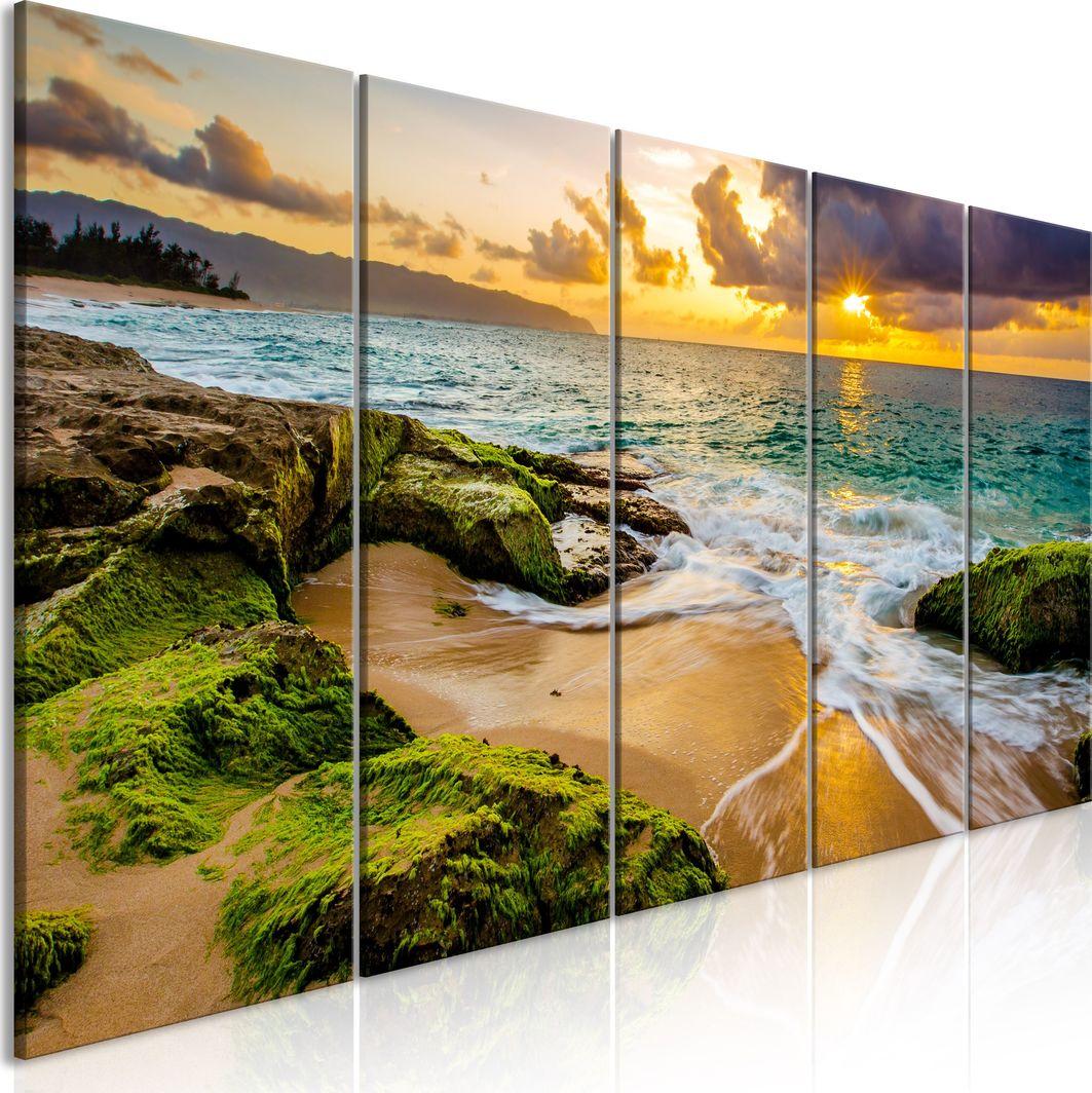 Artgeist Obraz - Turkusowe morze (5-częściowy) wąski ARTGEIST 1