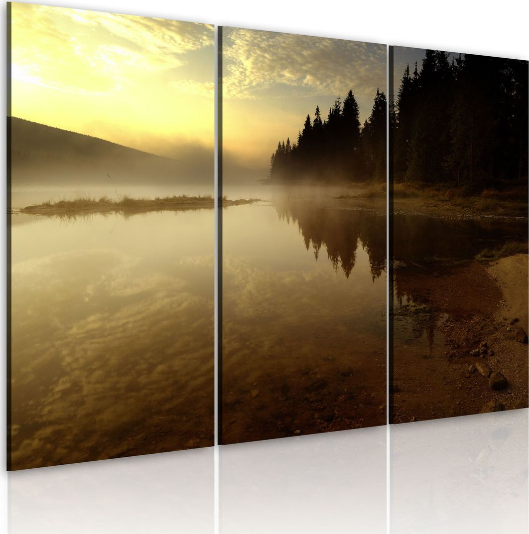 Artgeist Obraz - Wieczorem nad brzegiem jeziora ARTGEIST 1