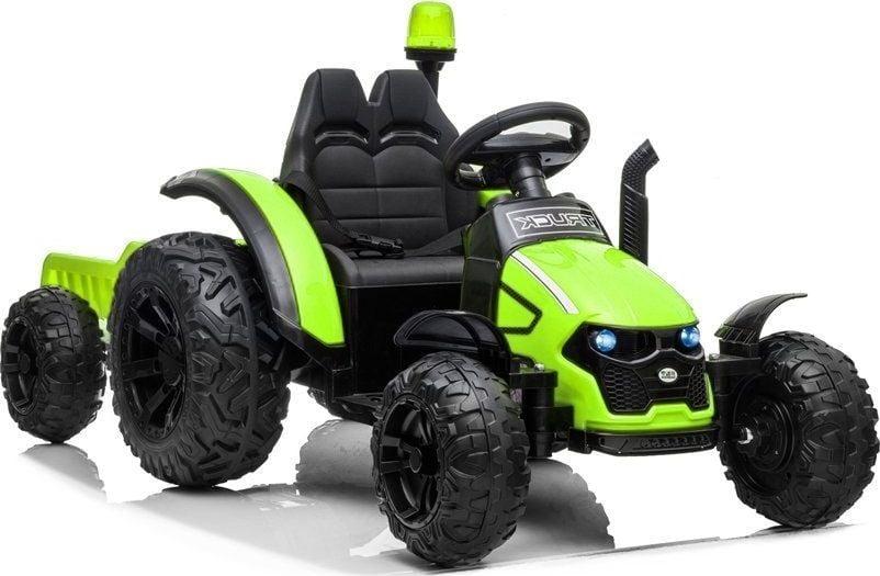 Lean Cars Traktor na akumulator z Przyczepą HZB-200 Zielony 1