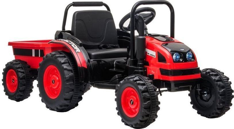Lean Cars Traktor na Akumulator z Przyczepą HL388 Czerwony 1