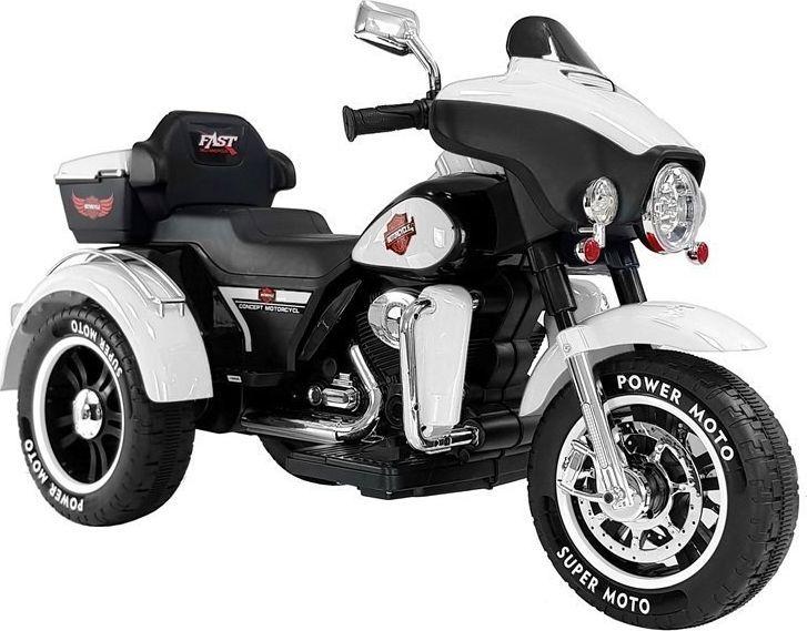 Lean Cars Motocykl na Akumulator ABM-5288 Biały 1