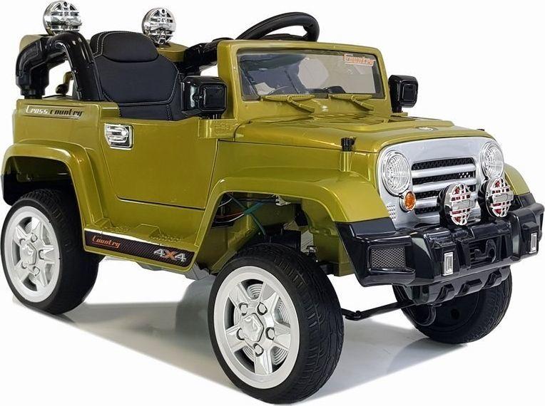 Lean Cars Auto na Akumulator Jeep JJ245 Zielony 1