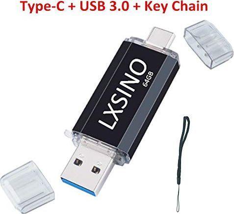 Pendrive LXSINO Pamięć USB 64 GB Pamięć USB C Pamięć 2 w 1 Pamięć flash USB 3.0 Pamięć OTG typu C do smartfonów typu C, Samsung Galaxy S10, S9, S8, Note9, Google Pixel 3, MacBook Pro 1