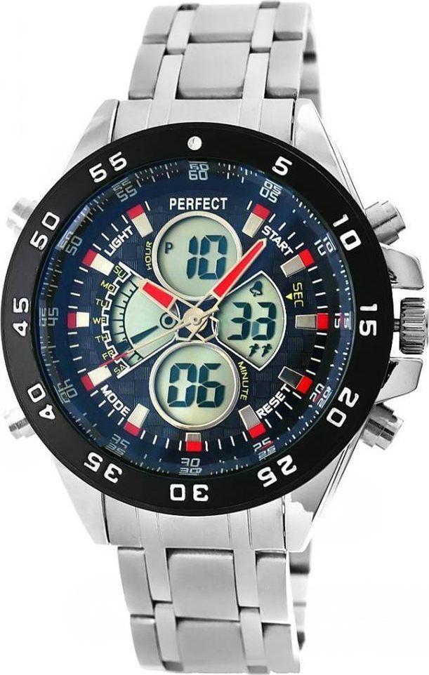 Zegarek Perfect Zegarek Męski Perfect LCD Ilumination Dual Time A818 uniwersalny 1