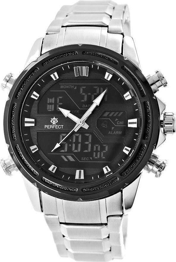 Zegarek Perfect Zegarek Męski Perfect A8027-2 Dual Time Iluminacja uniwersalny 1