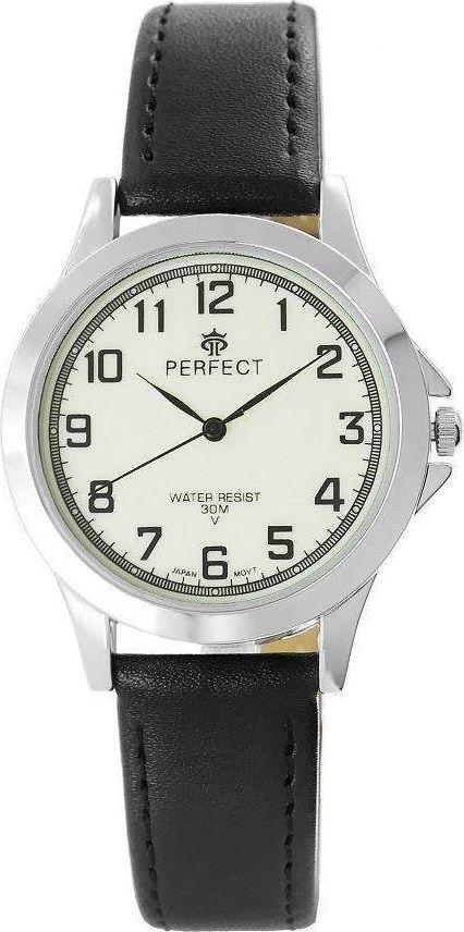Zegarek Perfect męski 34 fluorescencja czarno-biały 1