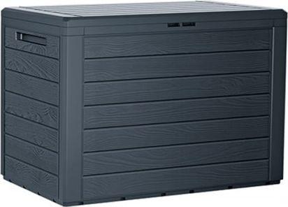 Prosperplast Skrzynia Ogrodowa WoodeBox 190L - antracytowy 1