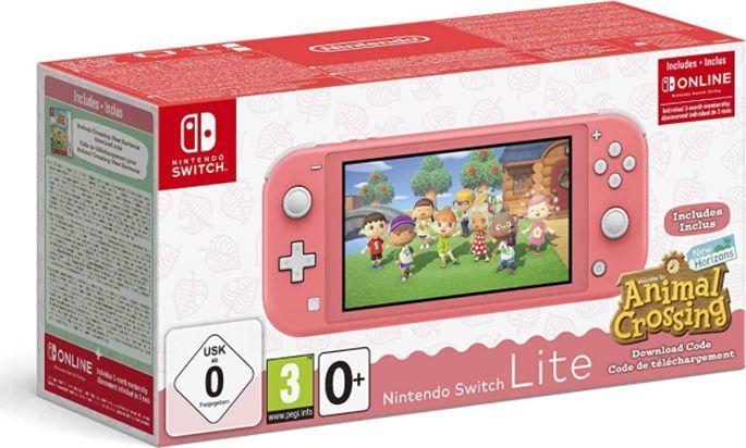 Nintendo Konsola Nintendo Switch Lite Coral + Animal Crossing: New Horizon + NSO (3 miesiące) 1