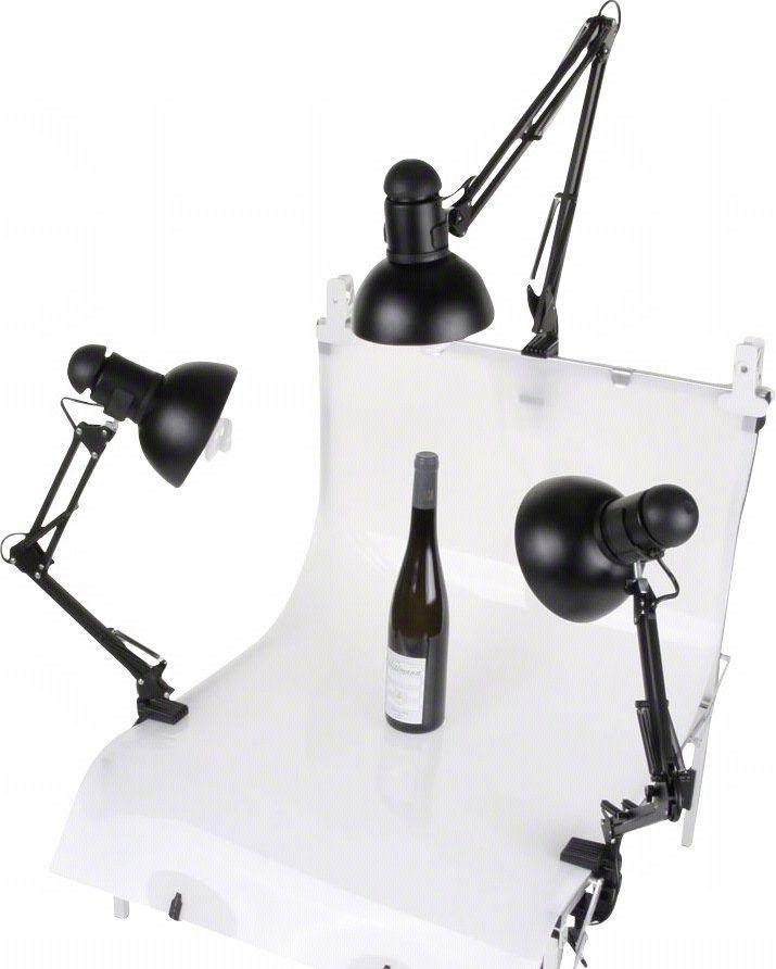 Zestaw studyjny Walimex Daylights, 3x 125W + Shooting Table (17163) 1