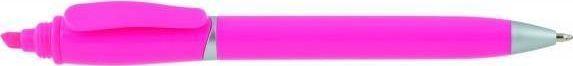 IMPACTO GIFTS Długopis plastikowy z zakreślaczem 2w1 uniwersalny 1