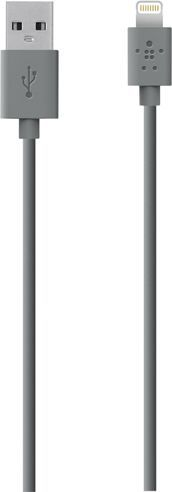 Kabel USB Belkin USB-Lightning, 1.2 m, szary (F8J144BT04-GRY) 1