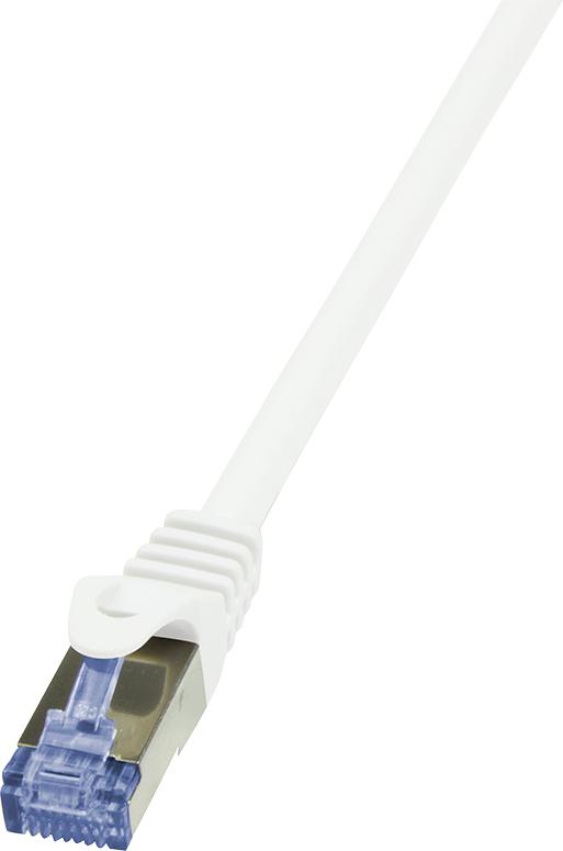 LogiLink CAT 6a Patchcord S/FTP Biały 1m (CQ3031S) 1