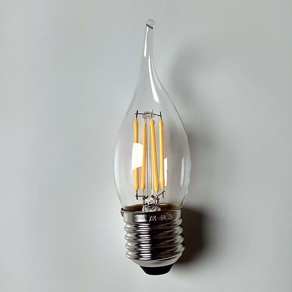 ALTAVOLA DESIGN Transparentna żarówka E27 LED zimna 4W Altavola BF14 LED 4W 1