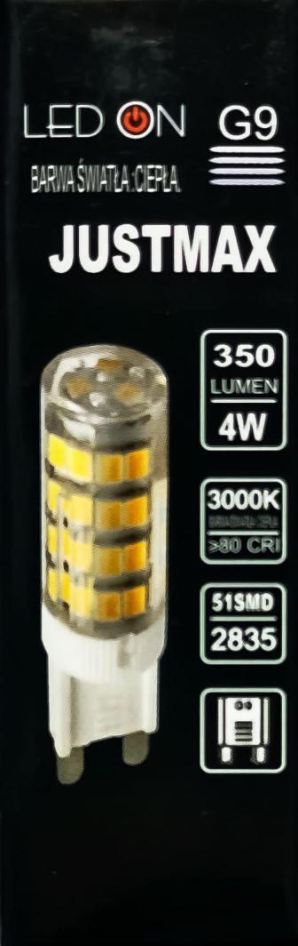 Auhilon Transparentna żarówka G9 LED ciepła 4W Auhilon WL-G9-3.5W02 1