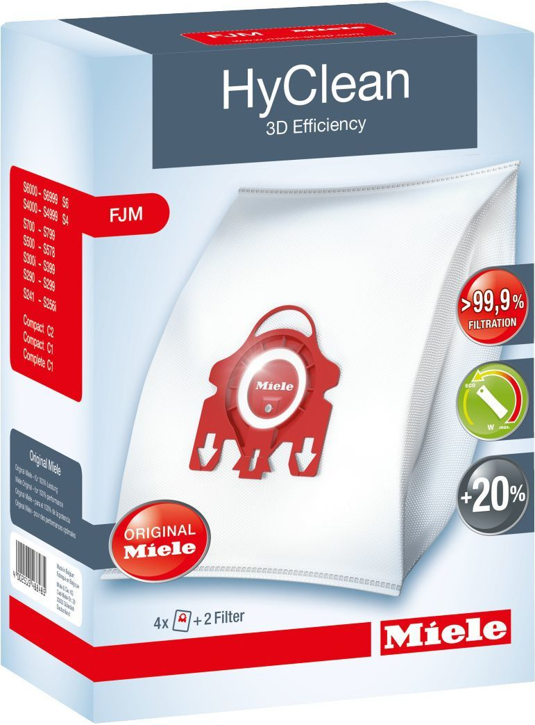 Worek do odkurzacza Miele F/J/M HyClean 3D Efficiency, 4 sztuki 1