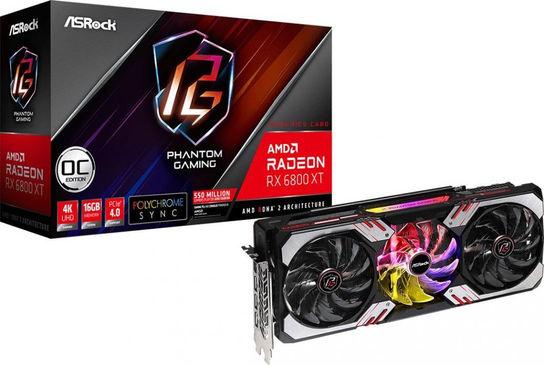 Karta graficzna ASRock Radeon RX 6800 XT Phantom Gaming D OC 16GB GDDR6 (RX6800XT PGD 16GO) 1