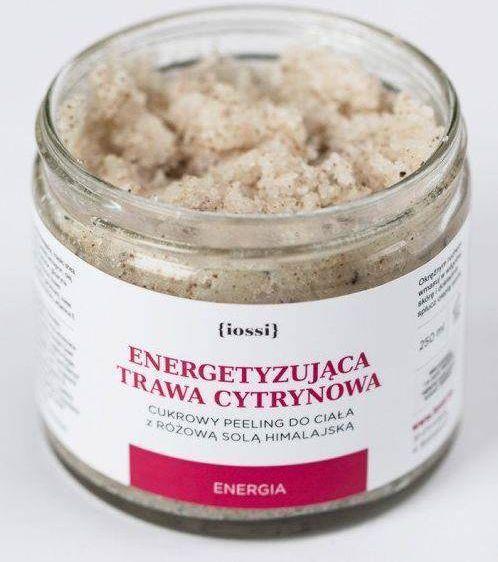 Lossi Cukrowy peeling do ciała z różową solą himalajską i trawa cytrynowa 120ml 1