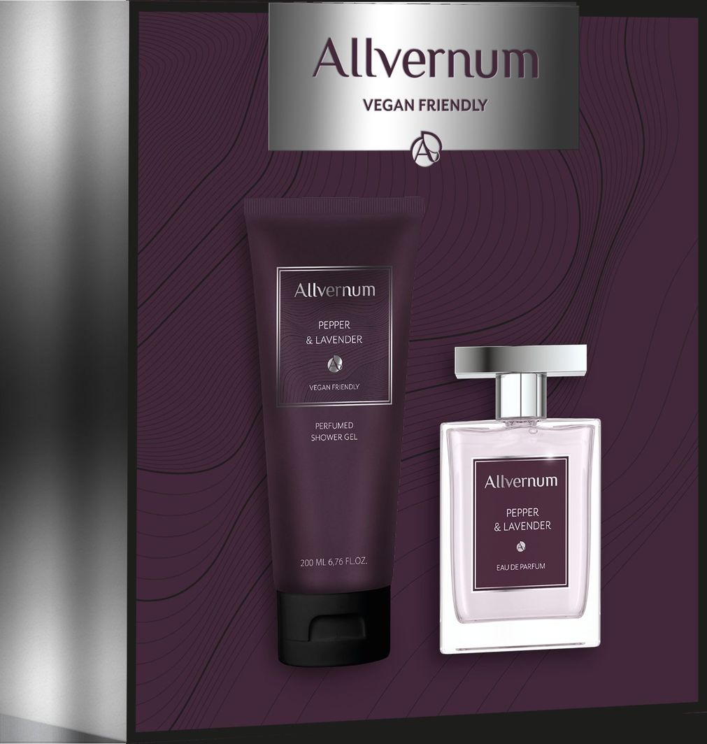 Allverne  Zestaw dla mężczyzn Pepper&Lavender Edp 100ml+żel pod prysznic 200ml  1