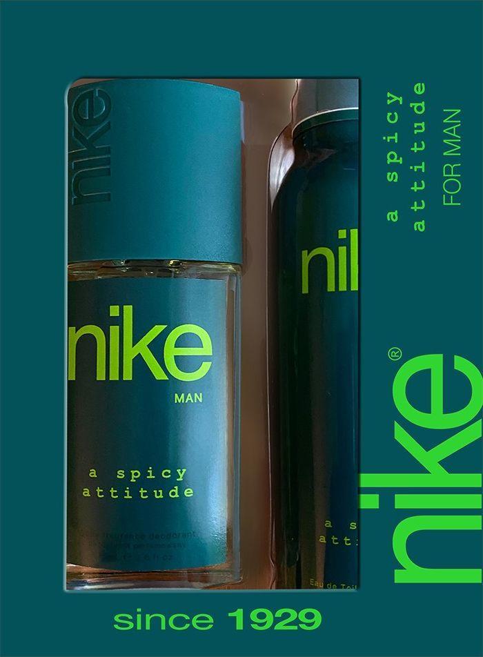 Nike Zestaw dla mężczyzn A Spicy Attitude dezodorant w szkle 75ml+dezodorant spray 200ml 1