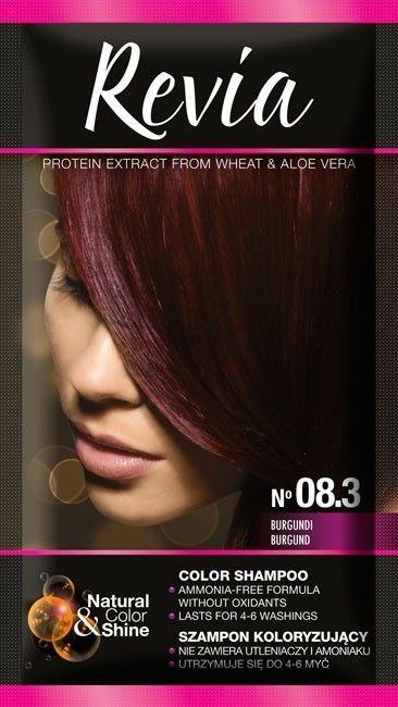 Revia Szampon koloryzujący do włosów nr 08.3 Burgund 1