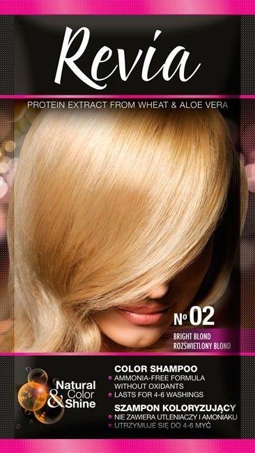 Revia Revia Szampon koloryzujący do włosów nr 02 Rozświetlony Blond 1op. 1