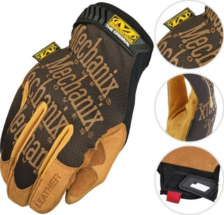 Mechanix Wear Mechanix Wear Rękawice Original Leather Czarne-Coyote XL 1