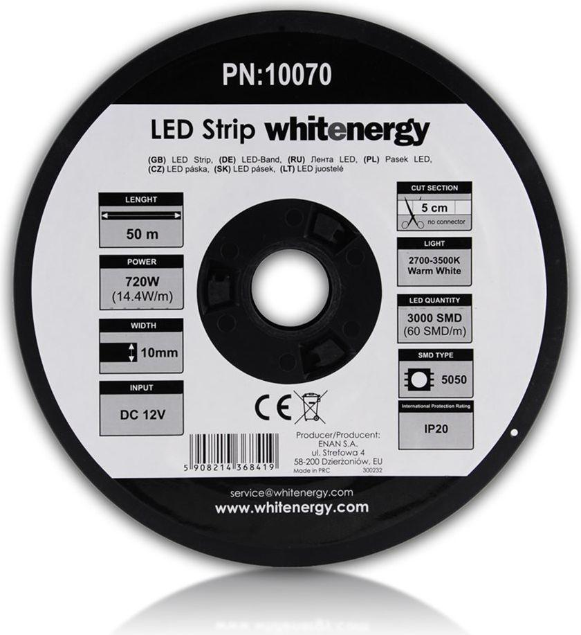 Taśma LED Whitenergy SMD5050 50m 60szt./m 14.4W/m 12V  (10070) 1