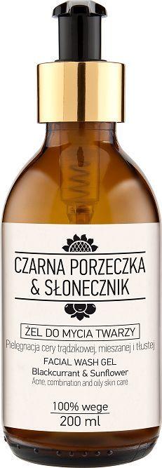 Laboratorium NOVA Żel do mycia twarzy Czarna porzeczka & Słonecznik 200 ml 1