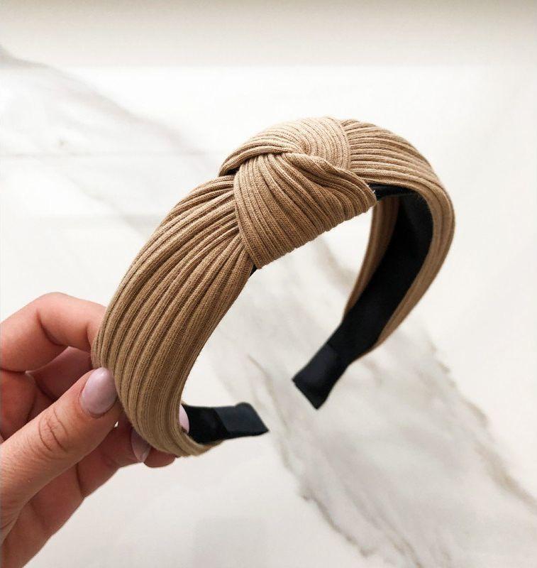 Kemer Opaska turban z materiału beżowa O210K uniwersalny 1