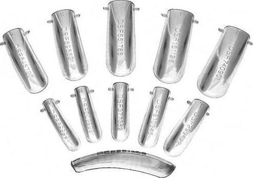 Bass Cosmetics Tipsy formy do modelowania żelu i akrylu systemem Dual - Bass 1