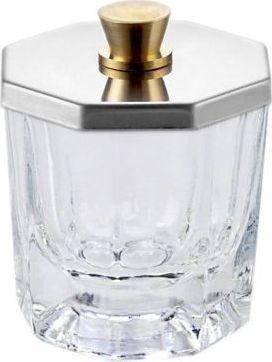 Bass Cosmetics Naczynko szklane na płyn akrylowy z wieczkiem metalowym - Bass 1