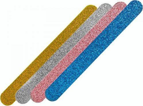 Bass Cosmetics Zestaw pilników brokatowych prostych 150' (4 szt.) 1