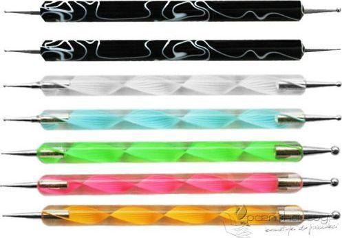 Bass Cosmetics Aplikator 2-stronny do aplikacji żelu, akrylu, farbek, ozdób - Bass 1