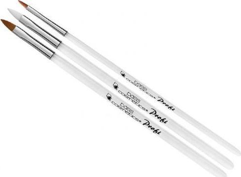 Bass Cosmetics Pędzel prosty do modelowania żelu Synthetic #4 | #6 konus - Bass 1